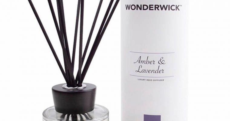 Wonderwick geurstokjes Amber Lavender wit | 149-03903 | Wonderwick