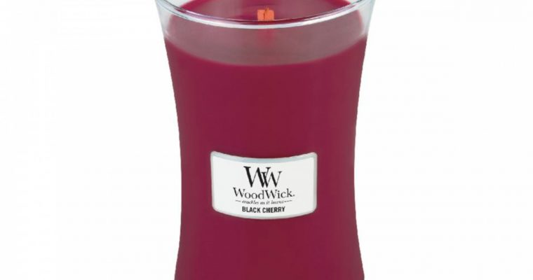 Woodwick Black Cherry kaars groot | 93100E | Woodwick