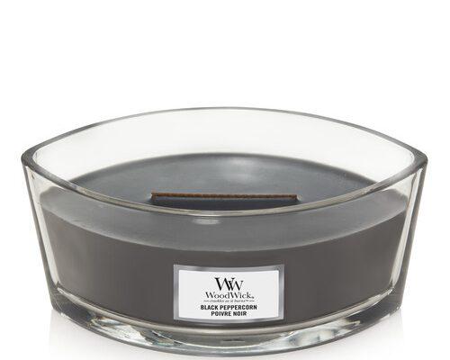 Woodwick Black Peppercorn ellips kaars | 1666259E | Woodwick