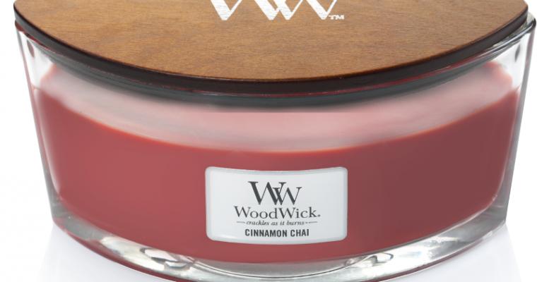 Woodwick Cinnamon Chai ellips kaars   76104E   Woodwick