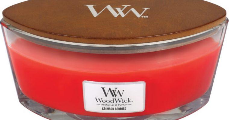Woodwick Crimson Berries ellips kaars | 76080E | Woodwick