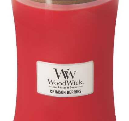 Woodwick Crimson Berries kaars groot | 93080E | Woodwick