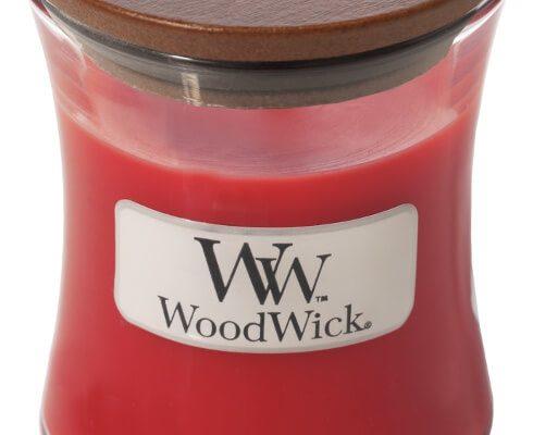 Woodwick Crimson Berries kaars klein   98080E   Woodwick
