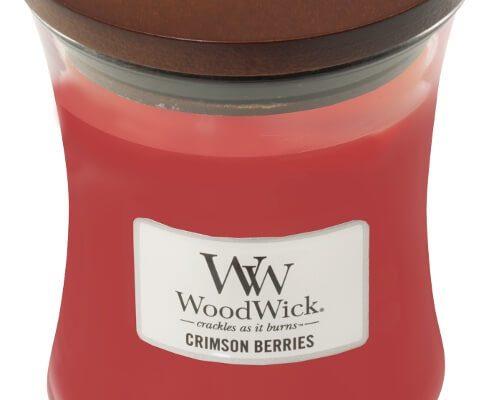 Woodwick Crimson Berries kaars medium | 92080E | Woodwick