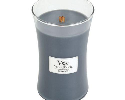 Woodwick Evening Onyx Large Candle | 93050E | Woodwick