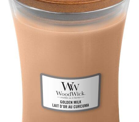 Woodwick Golden Milk kaars groot   1647924E   Woodwick