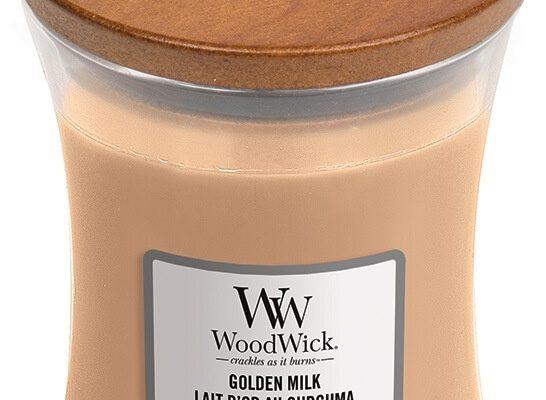 Woodwick Golden Milk kaars medium   1647918E   Woodwick