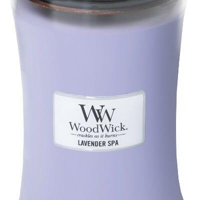 Woodwick Lavender Spa kaars groot | 93492E | Woodwick