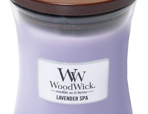 Woodwick Lavender Spa kaars medium | 92492E | Woodwick