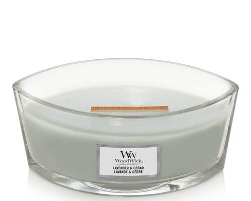 Woodwick Lavender en Cedar ellips kaars | 1666260E | Woodwick