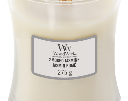 Woodwick Smoked Jasmine Medium kaars | 92038E | Woodwick
