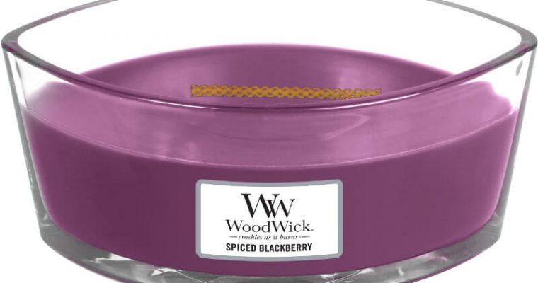 Woodwick Spiced Blackberry ellips kaars | 76078E | Woodwick
