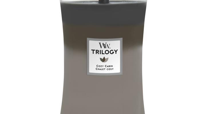 Woodwick Trilogy Cozy Cabin kaars groot | 93968E | Woodwick