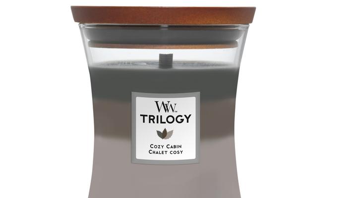 Woodwick Trilogy Cozy Cabin kaars medium   92968E   Woodwick