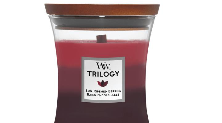Woodwick Trilogy Sun Ripened Berries medium   92972E   Woodwick