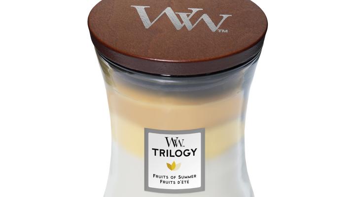 Woodwick Trilogy fruits of summer medium   92958E   Woodwick