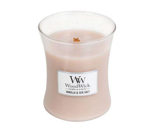 Woodwick Vanilla & Sea Salt Medium Candle | 92191E | Woodwick