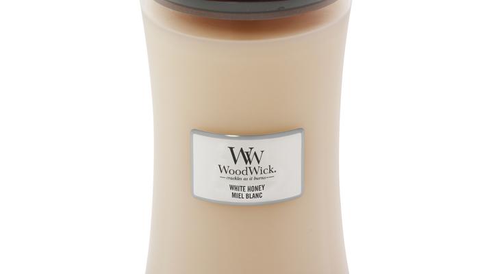 Woodwick White Honey kaars groot | 93026E | Woodwick