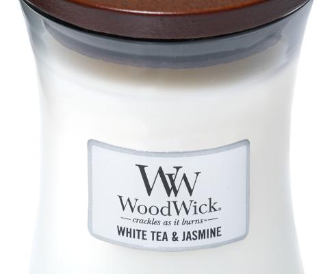 Woodwick White Tea & Jasmine Medium kaars | 92062E | Woodwick