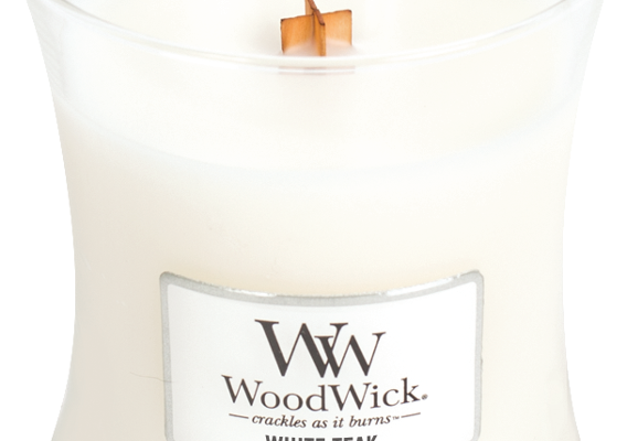 Woodwick White Teak Medium kaars   304304   Woodwick
