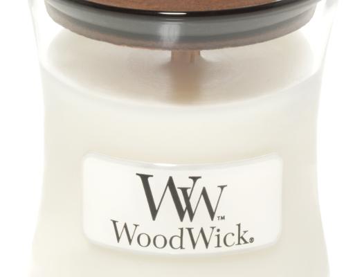 Woodwick White Teak Mini kaars   98039E   Woodwick