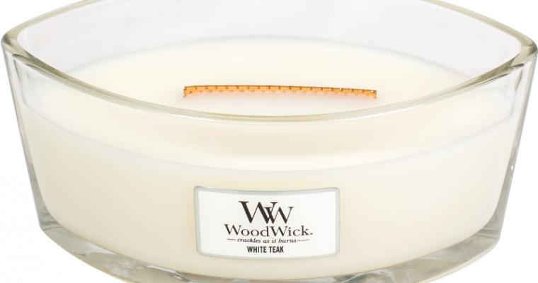 Woodwick White Teak ellips kaars   76039E   Woodwick