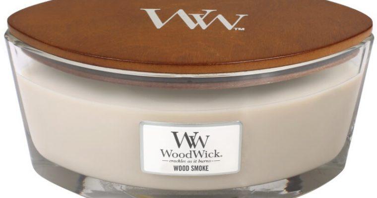 Woodwick Wood Smoke ellips kaars   76075E   Woodwick