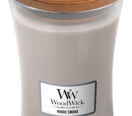 Woodwick Wood Smoke kaars groot   93075E   Woodwick