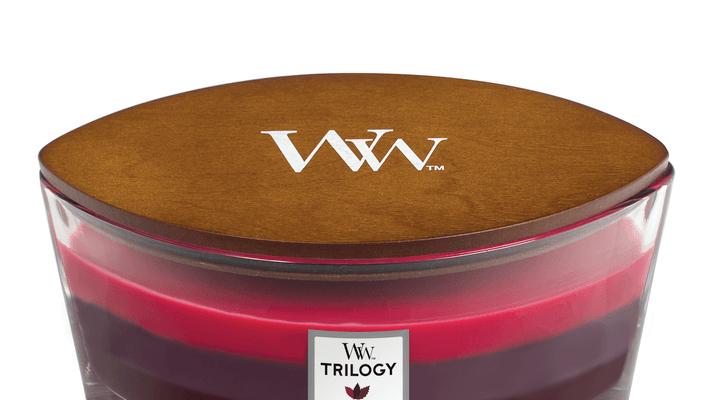 Woodwick ellipse Trilogy Sun Ripened Berries   76972E   Woodwick